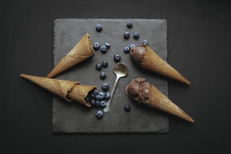 블루 베리로 만든 아이스크림