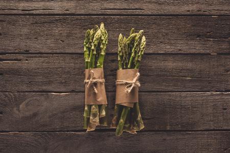 bunches of green asparagus Banco de Imagens