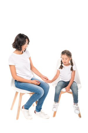 mother and daughter holding hands Stock Photo - 85581119