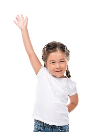 waving adorable child