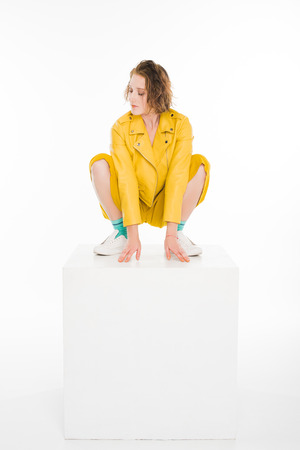 young girl dressed in all yellow