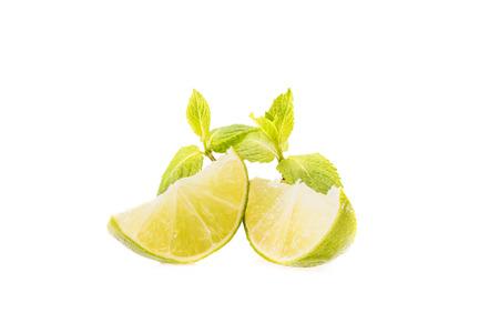 fresh lime slices Reklamní fotografie