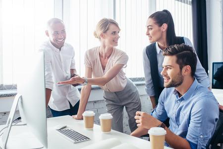business people with desktop computer Standard-Bild