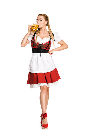 german girl drinking beer