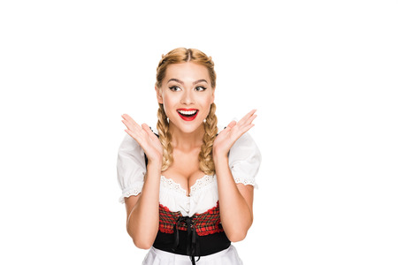 excited german girl Stock Photo