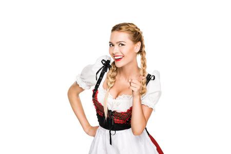 아름다운 독일 소녀 스톡 콘텐츠