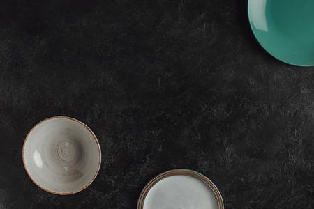 various ceramic plates Stock Photo
