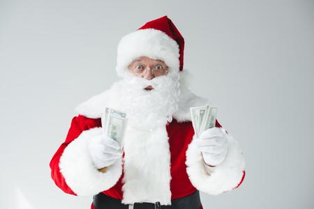 サンタとドル紙幣 写真素材 - 86727514