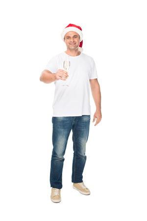 man with champagne glass Stock Photo