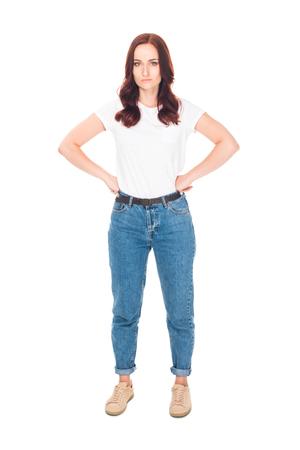 ontevreden meisje in jeans