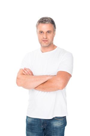 Uomo con le braccia incrociate Archivio Fotografico - 86850443