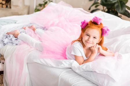 ベッド上安静時つけた小さな女の子