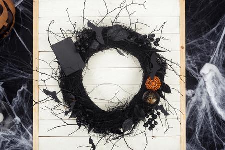 decorative halloween wreath