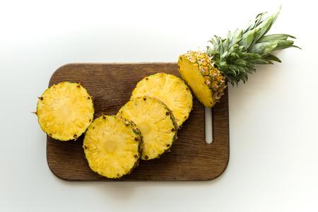 fresh sliced pineapple