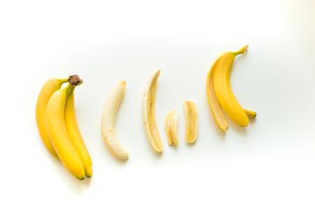 fresh yellow bananas Stock Photo
