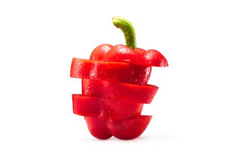 gesneden rode paprika