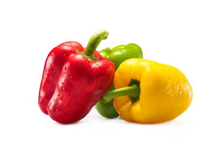 fresh bell peppers Stock Photo