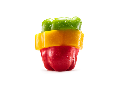 slices of bell pepper Stok Fotoğraf