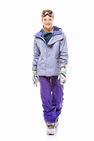 woman in snowboard costume