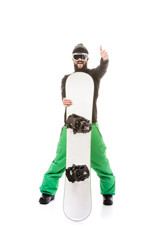 young man with snowboard Reklamní fotografie