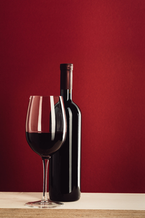 wineglass and bottle of wine