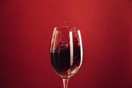 red wine in glass Banco de Imagens