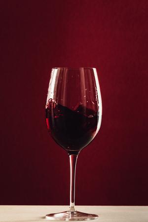 splash of red wine Banco de Imagens