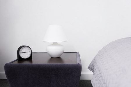 lamp and alarm clock
