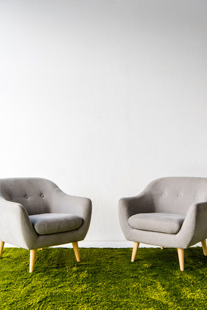 Two armchairs on carpet Stok Fotoğraf - 89185694