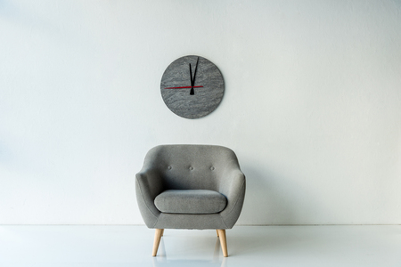 Armchair and clock