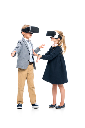 VR 헤드셋의 학생