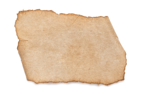blank old paper texture isolated on white Stock Photo