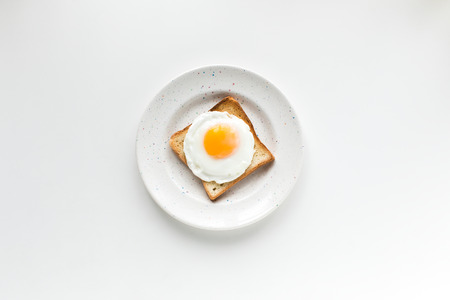 breakfast with fried egg on toast