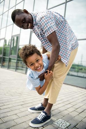 father and son having fun Stok Fotoğraf