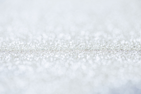 Close up of silver glittering shiny sequins