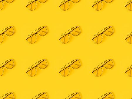 세련 된 안경 노란색에 고립 된 집합 스톡 콘텐츠