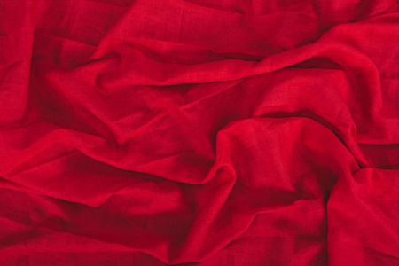 close up view of dark red linen fabric texture Stock Photo - 89970813
