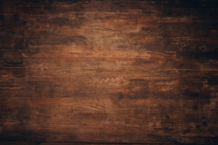 木製の暗い茶色の汚い背景 写真素材