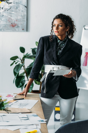 young african american fashion designer Stock Photo