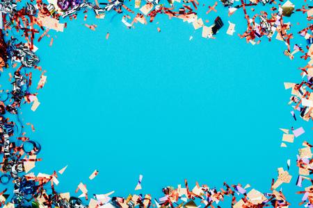 frame made of confetti