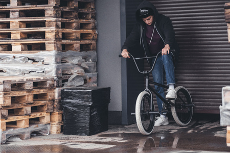 young bmx cyclist
