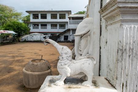 elephant statues in buddha temple at Sri Lanka