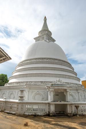 beautiful stupa dome at buddha temple in Sri Lanka Stock Photo