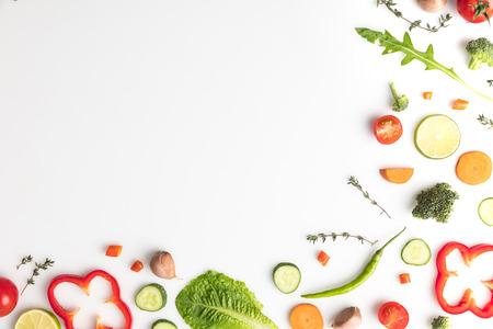 cut different vegetables Stock fotó