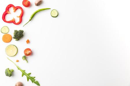 cut vegetables for salad 写真素材