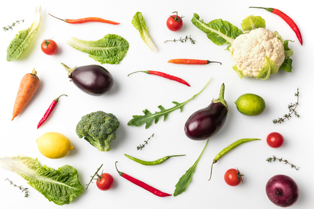 uncooked vegetables