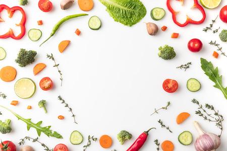 Kreis des geschnittenen Gemüses