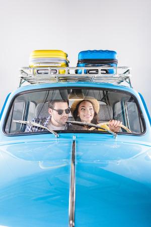 travelers driving car
