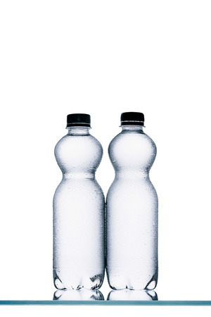 plastic bottles of water Stock Photo