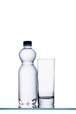 plastic bottles of water Standard-Bild